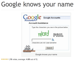 Google knows your name